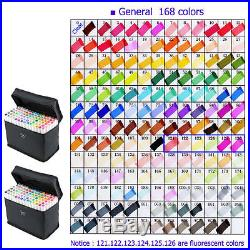 168 Color Art Twin Tip Broad Fine Point Pen TouchFive Marker SET Alcohol Graphic