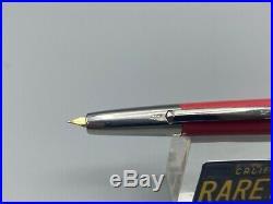 1967 PILOT CAPLESS VANISHING POINT CORAL Fountain Pen 14K H567 Fine Nib RARE