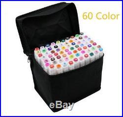 60/80/168/218 Color Set Touch Five Art Sketch Twin Marker Pen Broad Fine Point