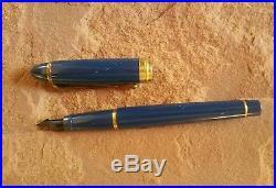 AURORA Italy Fountain Pen 14K Dark Blue Body Fine Point