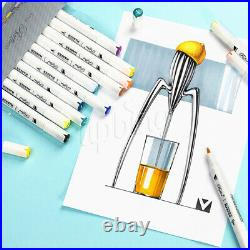 Art Design Twin Tip Markers Pen Broad Fine Point Alcohol Graphic Drawing Pens