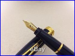 Aurora Ipsilon Deluxe Fountain Pen Blue Fine 14 K Point Nib