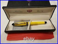 Aurora Ipsilon Resin Fountain Pen Yellow Fine Point Gold Trim B11Y-F