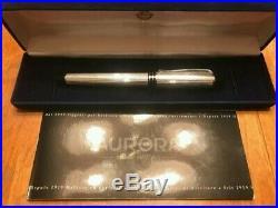 Aurora Ipsilon Silver Fountain Pen Sterling Silver Fine Point