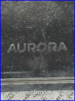 Aurora Talentum Fountain Pen Black Chrome Trim Fine Point WithOriginal Box