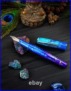 Benu Talisman Fountain Pen in Peacock Ore Fine Point NEW in Box