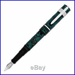 Benu Tattoo Fountain Pen in Green Fine Point NEW in box BENU-1120410-F