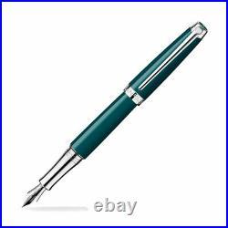 Caran D'ache Leman Fountain Pen Amazon Green Fine Point -NEW in original box