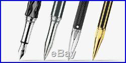 Caran D'ache Varius Fountain Pen Chinablack & Silver Fine Point NEW