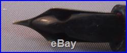Conklin Endura Black Hard Rubber Fountain Pen-working-fine point