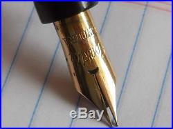 Conklin Endura Junior Black and Pearl Fountain Pen-working-flexible fine point