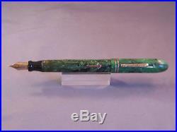 Conklin Endura Symetrik Fountain Pen-green and black-fine point