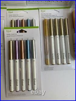 Cricut Accessory Lot Of Blades, Embossing tips, Metallic Markers, Fine Point Pen
