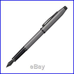 Cross Century II Fountain Pen Gunmetal Gray with Black Trim Fine Point New
