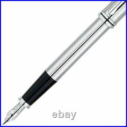 Cross Townsend Fountain Pen Fine Point Lustrous Chrome with stainless steel