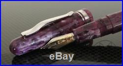 Delta Fusion 82 Fuscia Purple Resin Fine Point Fountain Pen -Brand NEW DF87097