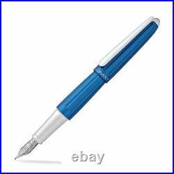 Diplomat Aero Fountain Pen Blue Fine Point D40306023 New in Box