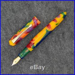 Edison Pearlette Fountain Pen in Fingerpaints Fine Point NEW in box