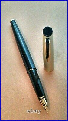 Exquisite! Sailor Fine Point 14k Gold Nib Black Silver Gold Vintage Fountain Pen