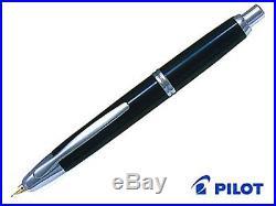 Fine Nib Pilot Namiki Retractable Fountain Pen Capless Black Vanishing Point