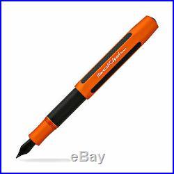 Kaweco AC Sport Fountain Pen Orange with Black Nib Extra Fine Point