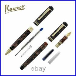 Kaweco Dia2 Fountain Pen and Ballpoint Set Amber Fine Point Limited Edition