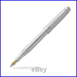 Laban. 925 Sterling Silver Fountain Pen Crisscross Fine Point NEW
