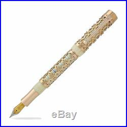 Laban Formula Fountain Pen Cream With Rose Gold Two-Tone Overlay -Fine Point