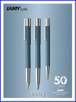 Lamy Scala Fountain Pen in Glacier Blue Fine Point 2017 Special Edition NEW