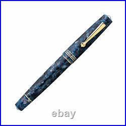 Leonardo Momento Zero Fountain Pen in Blue Sorrento Gold Trim Fine Point NEW