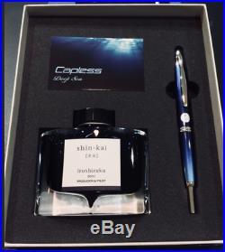 Limited Pilot Capless Fountain Pen Deep Sea Blue Shinkai Vanishing Point Japan