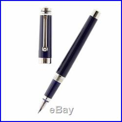 Montegrappa Parola Navy Blue Fine Point Fountain Pen ISWOT2AD NEW in box