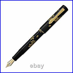 Namiki Chinkin Fountain Pen in Cherry Blossoms 18K Gold Fine Point NEW in box