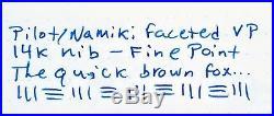 Namiki Faceted Capless Fountain Pen Black Color 18K Fine Point