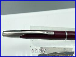 Namiki Vanishing Point Fountain Pen BURGUNDY FACETED 14K Fine Nib MINT or Unused