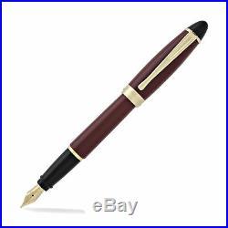 New Aurora Ipsilon Resin Fountain Pen Bordeaux Extra Fine Point B11X-EF