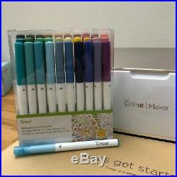 New Cricut Maker (Champagne), Fine Point Pen Set, Cutting Mats + Fabric Pen