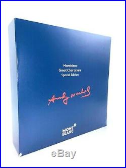 New! Montblanc Special Edition Andy Warhol Fountain Pen Fine Point 112715