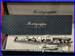 New Montegrappa Fortuna Mosaic Roma black/white fine Point Fountain Pen