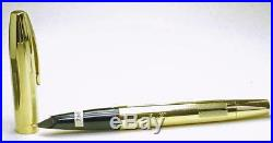 New Old Stock Sheaffer Imperial Torpedo Gold Plated Body & Cap Unused Fine Point
