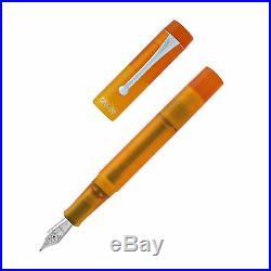Opus 88 Demonstrator Fountain Pen Orange Fine Point NEW in box 96086506F