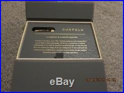 PARKER Duofold Rollerball Pen, Classic Black with Gold Trim, Fine Point Black