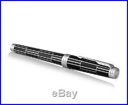 PARKER Premier Rollerball Pen, Luxury Black with Chrome Trim, Fine Point. New