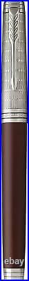 PARKER Premier Rollerball Pen with Fine Point Black Ink Custom Crimson Red