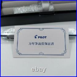 PILOT Capless (Vanishing Point) special alloy Silver Fountain Pen Fine Nib