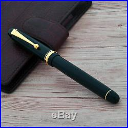 PILOT NAMIKI Custom 74 Standard 14kt Gold #5 Nib Fountain Pen Dark Green