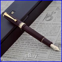 PILOT NAMIKI Custom 743 14kt Gold #15 Nib Fountain Pen Deep Red