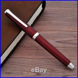 PILOT NAMIKI Falcon Elabo Metal Burgundy 14K Gold Rhodium Nib Fountain Pen