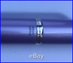 PILOT Vanishing Point DECIMO Fountain Pen Purple FINE (F) Brand NEW