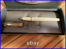 Parker 100 Honey White GT Fine Point Rollerball Pen 49756